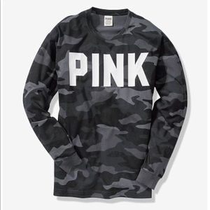 NWOT | Victoria's Secret PINK Camo Long-Sleeve Tee